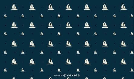Seamless SailBoat Pattern Design
