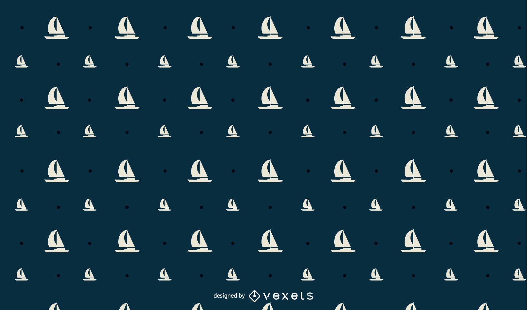 Seamless SailBoat Pattern Design