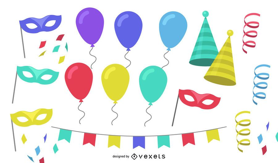 Party elements Vector Set