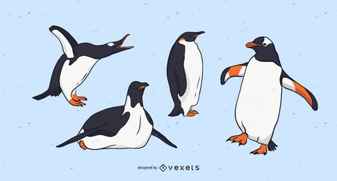 Penguin Illustration Set