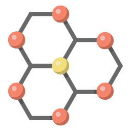 Atom carbon lattice illustration