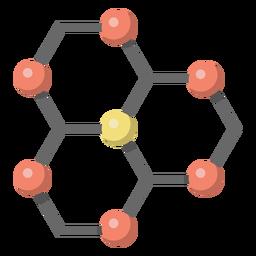 Ilustração de lattice de átomo de carbono