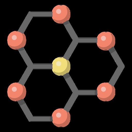 Ilustração de lattice de átomo de carbono Transparent PNG