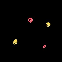 Atom electron molecule particle sketch