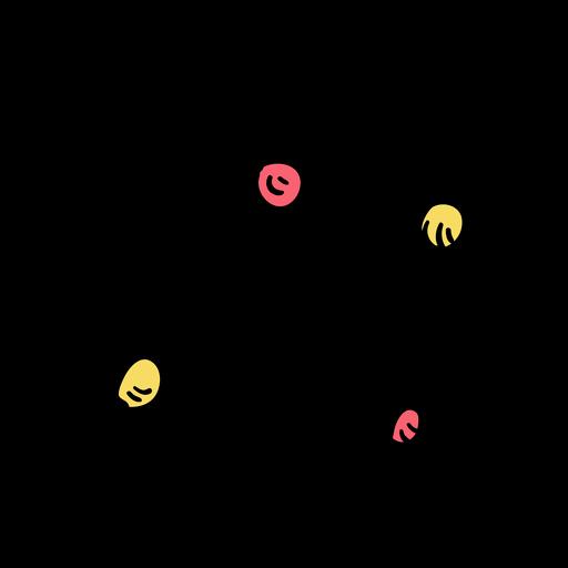 Esboço de partícula de molécula de elétrons de átomo Transparent PNG