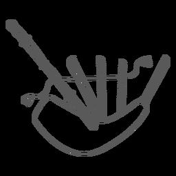 Doodle de gaitas de foles
