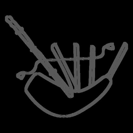 Doodle de gaitas Transparent PNG
