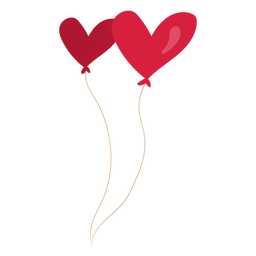 Ilustração de par de coração de balão