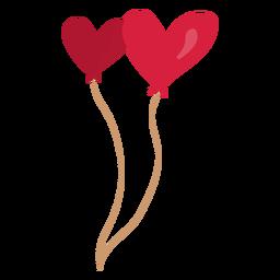 Ilustración de pareja de corazón de globo