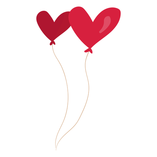 Balloon heart pair illustration Transparent PNG