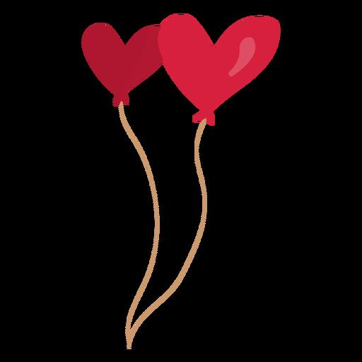 Ilustración de pareja de corazón de globo Transparent PNG