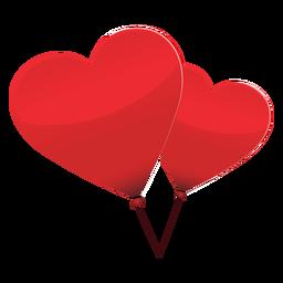 Ilustração de coração de par de balão
