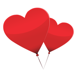 Pareja de globos corazón ilustración