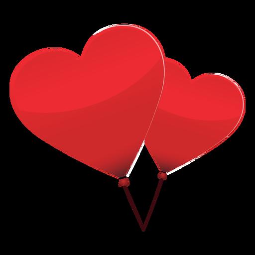 Ilustração de coração de par de balão Transparent PNG
