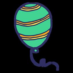 Listra de corda de balão plana