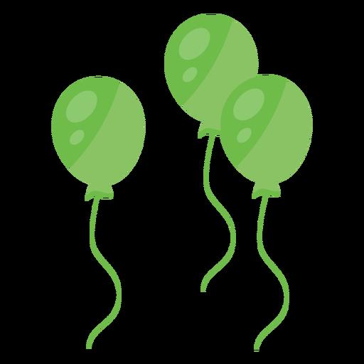 Corda de balão três plana Transparent PNG