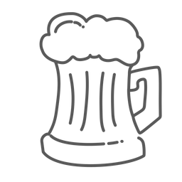 Doodle de caneca de cerveja