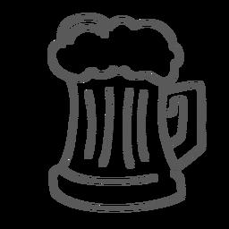 Taza de cerveza doodle