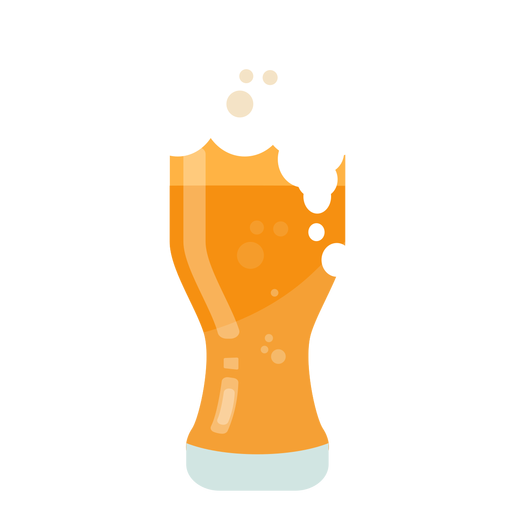 Beer mug flat Transparent PNG