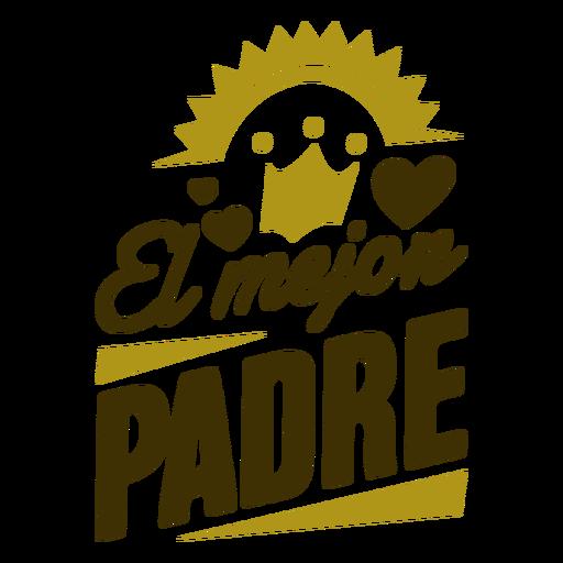 Best father heart sun inscription badge Transparent PNG
