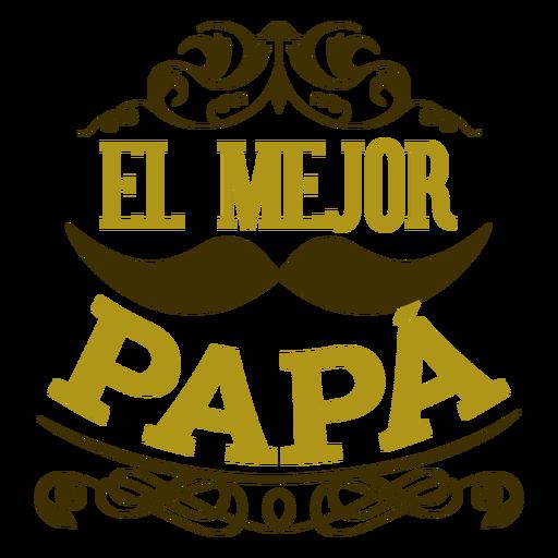 Melhor emblema de inscrição de vinheta de bigode de pai Transparent PNG