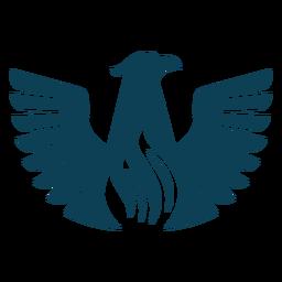 Silhueta de bico de asa de águia de pássaro