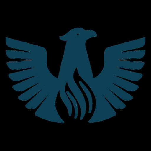 Bird eagle wing beak silhouette