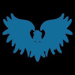 Pájaro águila ala pico cola silueta