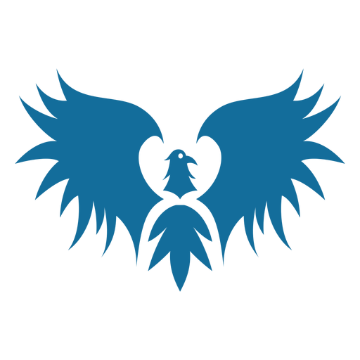 Bird eagle wing beak tail silhouette Transparent PNG