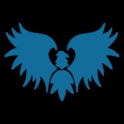 Silhueta da cauda do bico da asa da águia