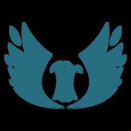 Pájaro águila ala silueta