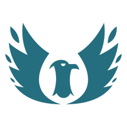 Silhueta de asa de águia de pássaro