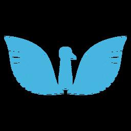 Silueta de pico de ala de pájaro