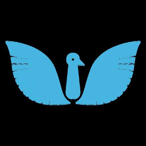 Silueta de pico de ala de pájaro Transparent PNG