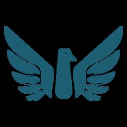 Silhueta de asa de pássaro
