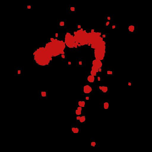 Blood paint splatter Transparent PNG