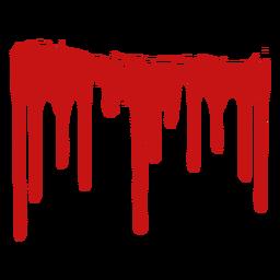 Silhueta de mancha de tinta de sangue