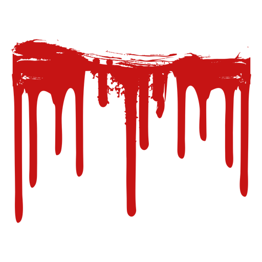 Blood paint stain silhouette Transparent PNG