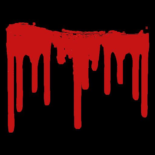 Silueta de mancha de pintura de sangre