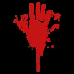 Silhueta de impressão digital de palma de sangue