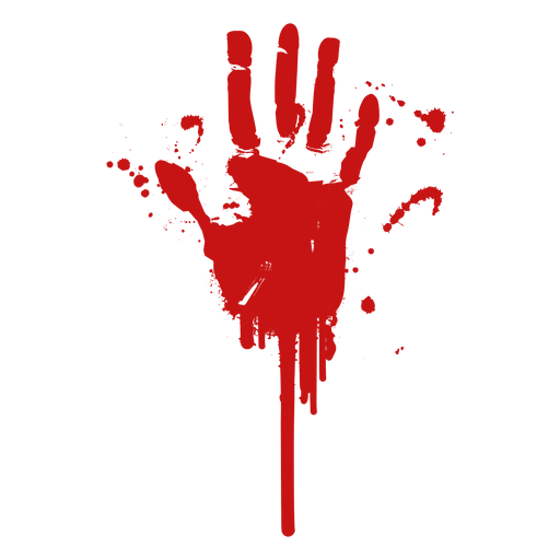 Silhueta de impressão digital de palma de sangue Transparent PNG