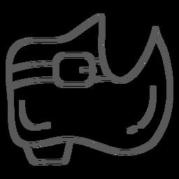Stiefelschuhsohle doodle