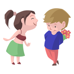 Beso de niña niño beso plano