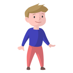 Jungenlächelnpulloverhose flach