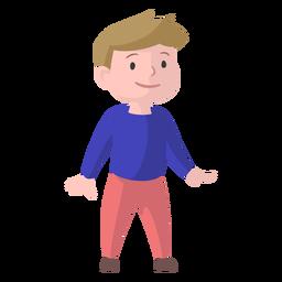 Rapaz sorriso camisola calças planas