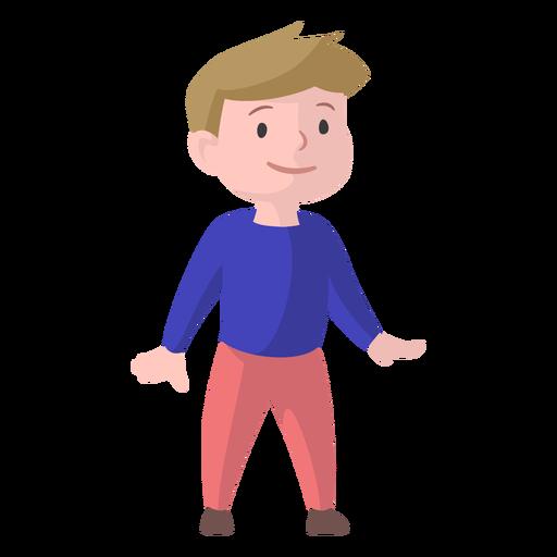 Rapaz sorriso camisola calças planas Transparent PNG