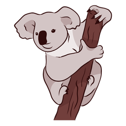 Ilustración de nariz de pierna de koala de oreja de rama
