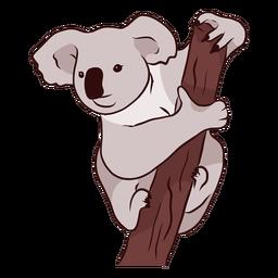 Rama oreja koala pierna nariz ilustración