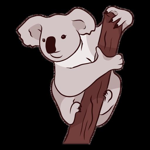 Ilustración de nariz de pierna de koala de oreja de rama Transparent PNG