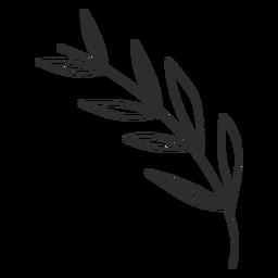 Dibujo de hoja de rama